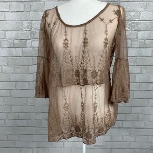 BKE Gimmicks lace blouse top